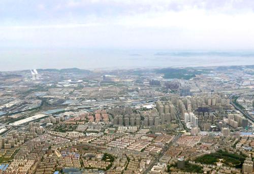 大連市内航空写真